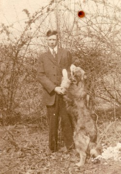 "John Williams ""Jackie"" Gray, Jr. and Dog"